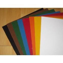 Barevná vlnitá lepenka A4 8 barev