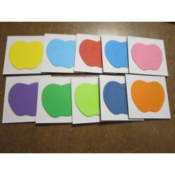 Lepenkové pexeso tvary barevné, 20ks, 5x5 cm