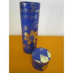 Dárkový tubus, modrá květina