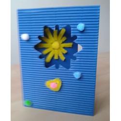 Přání k tvoření, modré, 10 ks s výsekem