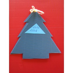 Strom z lepenky, modrý, 10 ks