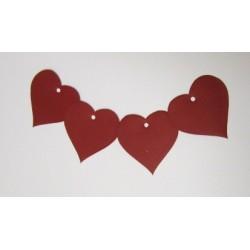 Výseky ze silnějšího papíru, srdce, 30 ks