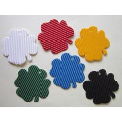 Výsek mikrovlna, čtyřlístek, 10 ks, mix barev