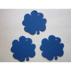 Čtyřlístek z mikrovlny, modrý, 10 ks