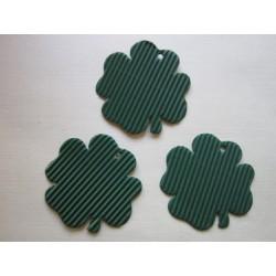 Čtyřlístek mikrovlna, 10 ks, zelený