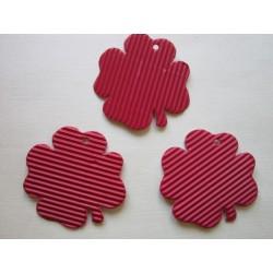 Čtyřlístek, mikrovlna,10 ks, červený