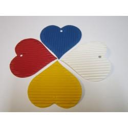 Výseky srdce velké z mikrovlny,10ks 5 barev